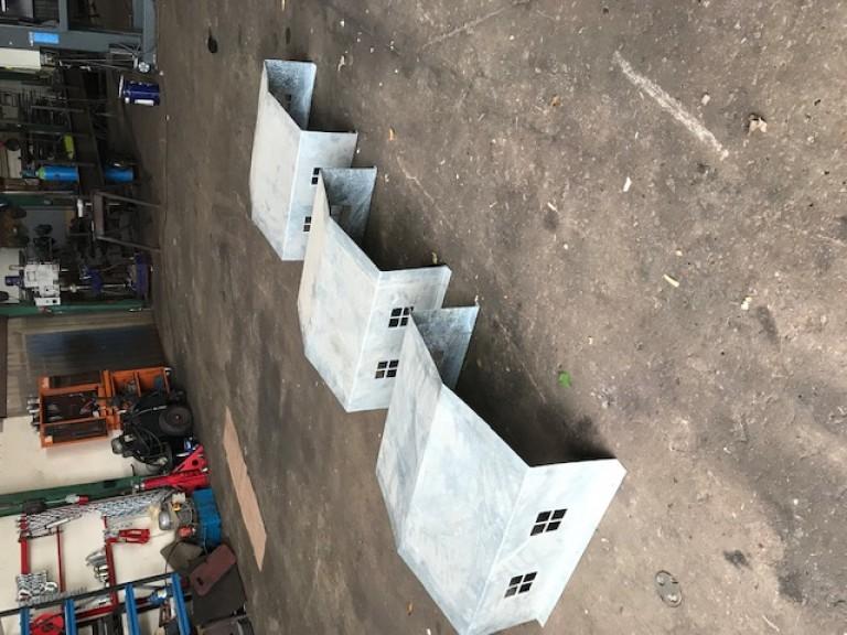 Mover galvaniseret huse