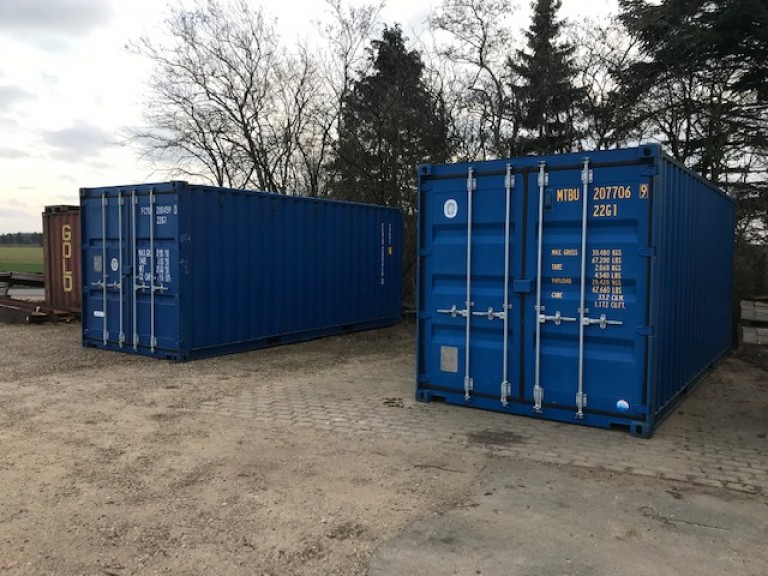 Skibs-container 20 fods, Blå
